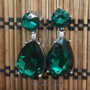 Adorable Faux Emerald Earrings